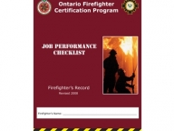Firefighter Job Performance Checklist