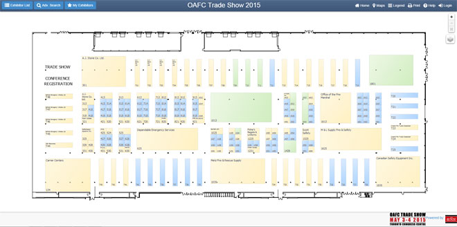 Trade Show Floor Plan: OAFC Conference And Trade Show