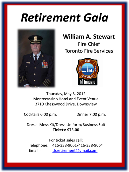 fire chief william stewart  toronto fire services retirement gala may 3  2012