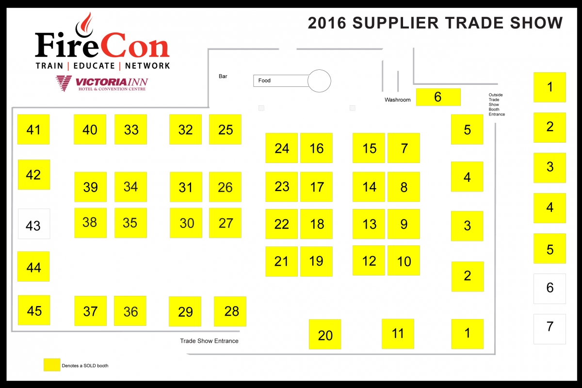 Firecon trade show ontario association of fire chiefs for Trade show floor plan design