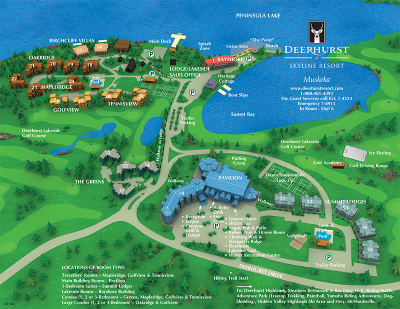 Deerhurst Resort Map Deerhurst Resort Map | compressportnederland Deerhurst Resort Map