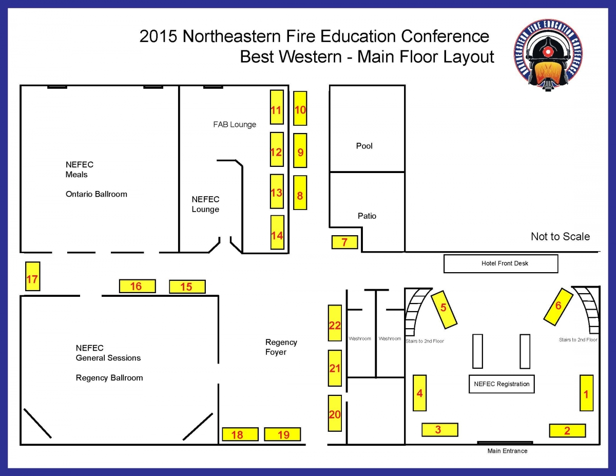 Trade Show Floor Plan: Northeastern Fire Education Conference Trade Show