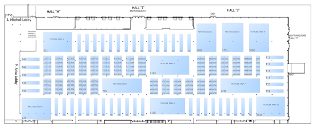 Questions can be forwarded to shelley molica trade show for Trade show floor plan design